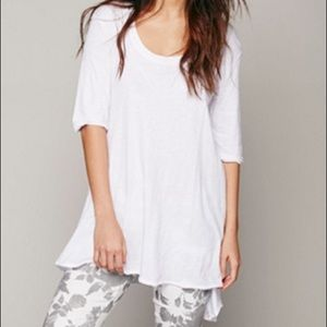 Free People Melrose Swing Tee | white | medium